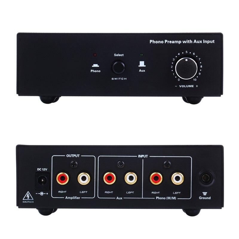 Nouvellement Platine Vinyle Phono Préampli Amplificateur de Signal Prephonograph avec Entrée Auxiliaire De Contrôle Du Volume