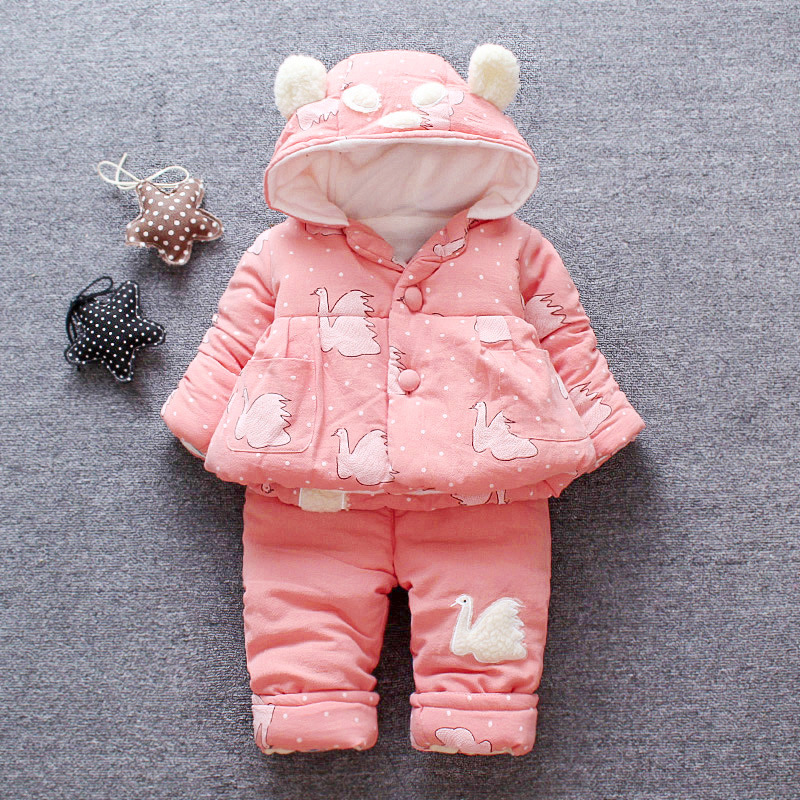 Baby Girls Clothes Sets Long Sleeve Jacket Suit Winter Baby Girl Clothing Sets Cotton Tracksuit for Kids Outfit Suits Girls Coat