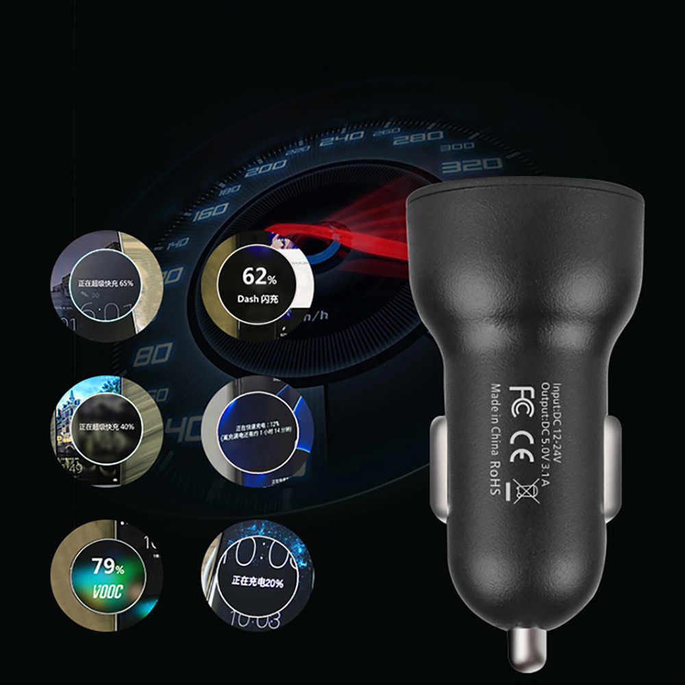 Car USB Charger Quick Charge 2.1A Dual USB Car Charger  2 Port LCD Display 12-24V Cigarette Socket Lighter USB Car Charger_3.4