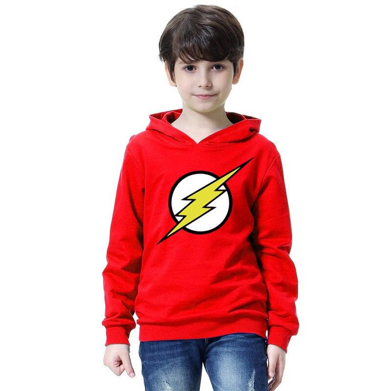 The Flash Star Red Color Kids Sweatshirt Boys Novelty Comic Super Hero Pullover Sweatshirt 2021 Children Clothes Arrow Friend 1
