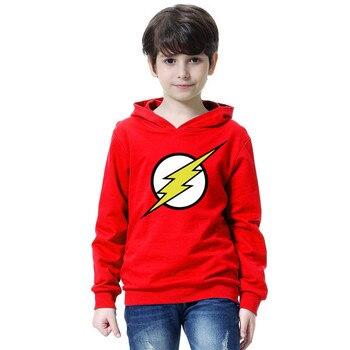 The Flash Star Red Color Kids Sweatshirt Boys Novelty Comic Super Hero Pullover Sweatshirt 2018 Children Clothes Arrow Friend 1