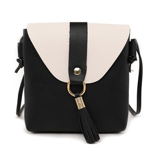 Women Messenger Bags High Quality  PU Leather Mini Female Shoulder Bag Handbags  Feminina Double Spell Color
