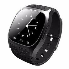 Original Bluetooth Smart Uhr M26 uhr Barometer Alitmeter Musik Schrittzähler für Android IOS Telefon pk u8 u80 smartwatch