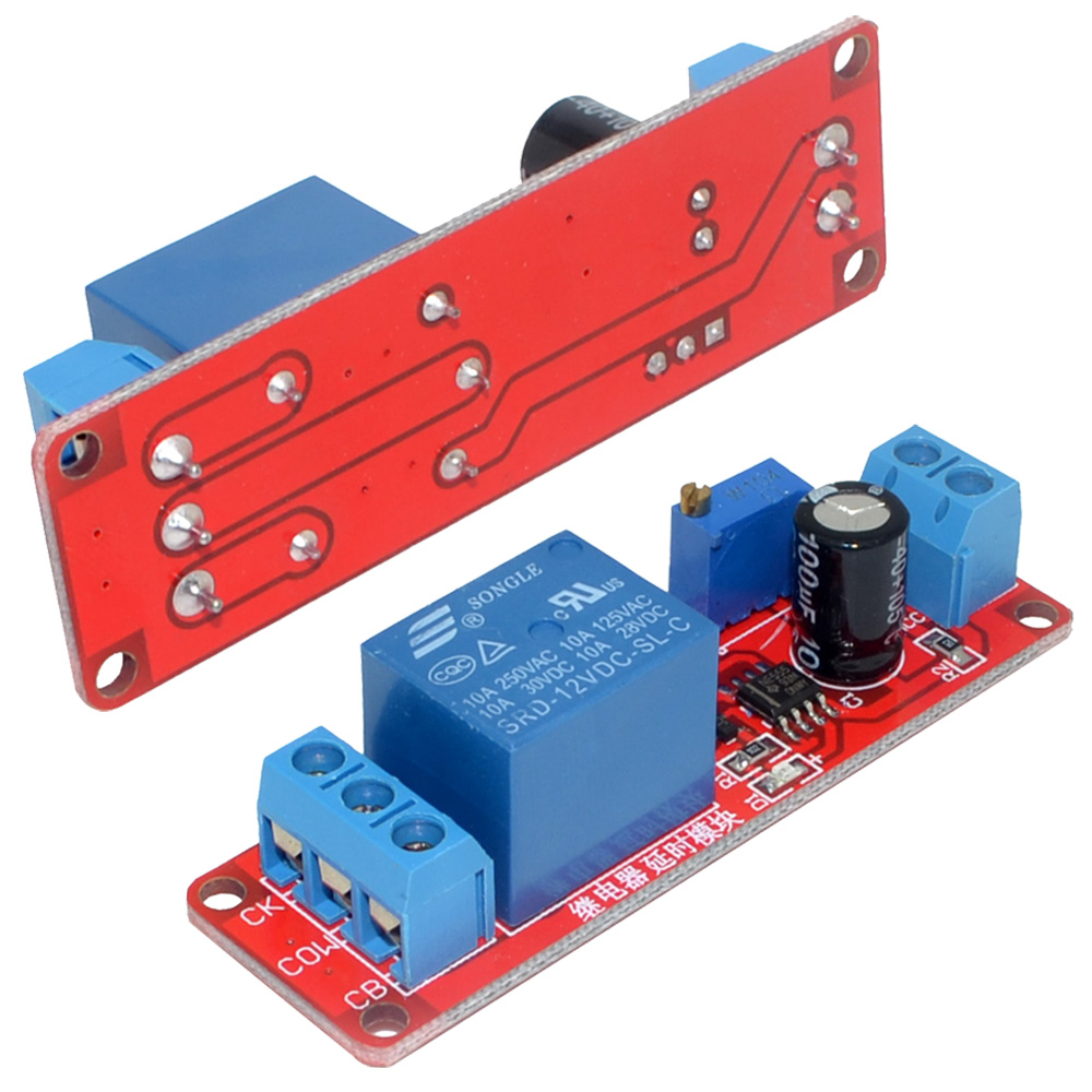 Time Delay Relay 2019 2020 Top Car Models Diy Ne555 Monostable Switch Circuit Module Red 12v 10pcs Timer Turn Off