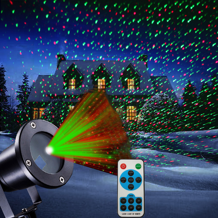 Thrisdar IP65 Outdoor RG Star Christmas Laser Projector Green Red Landscape Garden Lase Spotlight Sky Star LED Disco Stage Light beiaidi sky star outdoor christmas laser projector green red laser spotlight lamp landscape garden christmas stage light