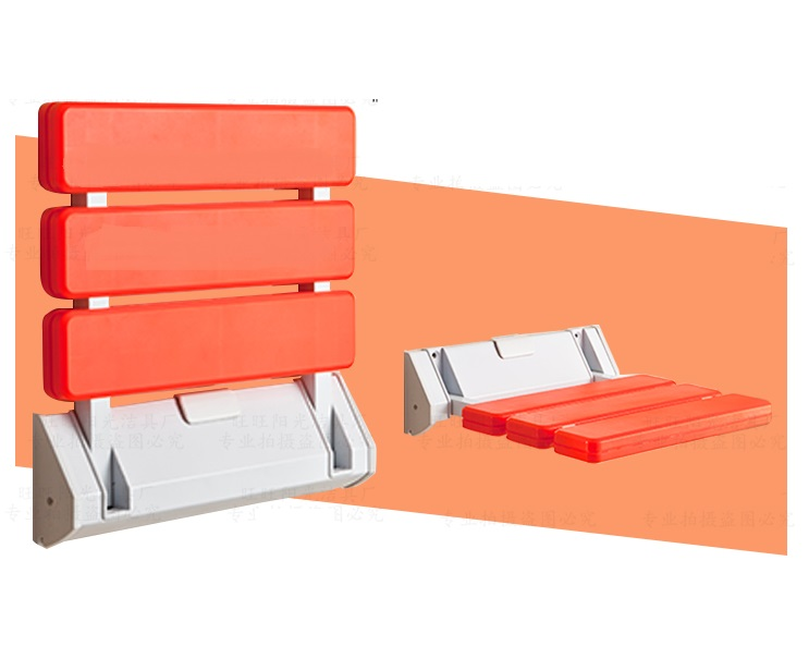 ФОТО ABS Wall Mount  Bathroom Folding Seat Fold up Seats SHOWER RV Seat