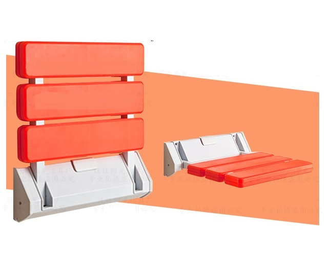 Premintehdw ABS Wall Mount Bathroom Folding Seat Fold up Seats ...