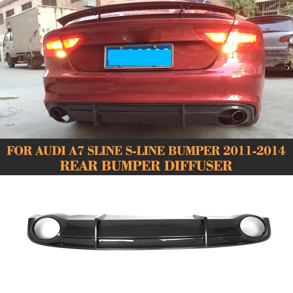 carbon fiber car rear bumper lip diffuser spoiler for Audi A7 S line S7 Hatchback 4 Door 11-14 Non A7 Standard and RS7