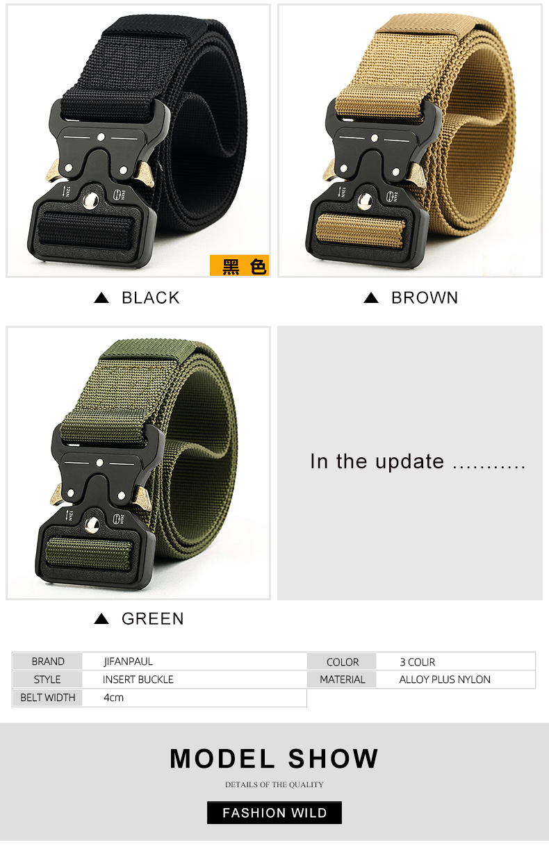 HTB1o.xOXeH2gK0jSZJnq6yT1FXaU - NO.ONEPAUL Men's Military Classic Tactical Belt High Elastic Metal Hook Outdoor Training High Quality New Nylon Soldier Belts