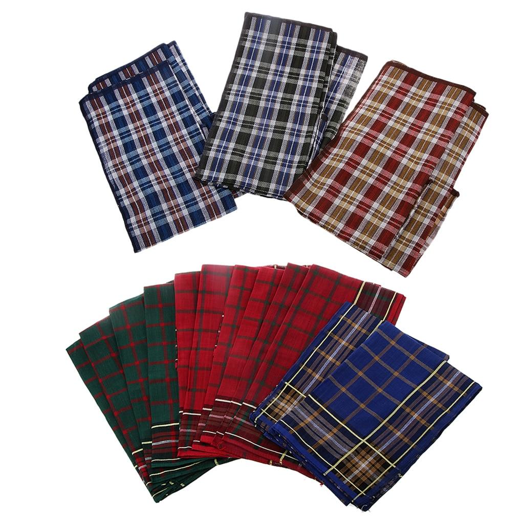 12 Pcs Mens Mixed Color Pocket Square Wedding Handkerchiefs Elegant Square Handkerchief For Men Business Suit - 40 X 40 Cm