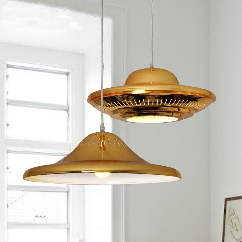 Modern luxury golden led pendant light flying saucer ufo shape aeproduct arubaitofo Images
