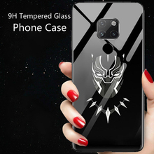 Marvel Venom Iron Man Deadpool Luminous Glass Phone Case For Huawei Mate 20 10 Pro Avengers Batman Black Panther Cover Funda