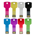 Mini metal de Alumínio em forma de chave USB flash drive 8 GB 16 GB 32 GB 64 GB usb memory stick 128 GB DriveFree Flash Pendrive grátis