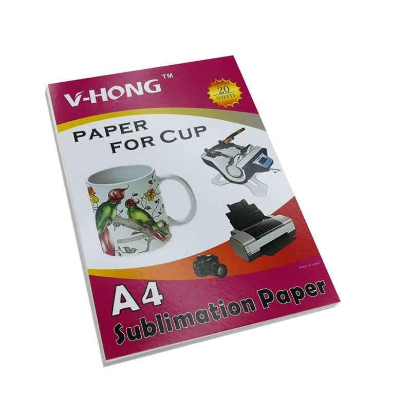 A4 boyutu 8.26x11.7 inç kupası transfer polyester malzemeler süblimasyon kağıdı