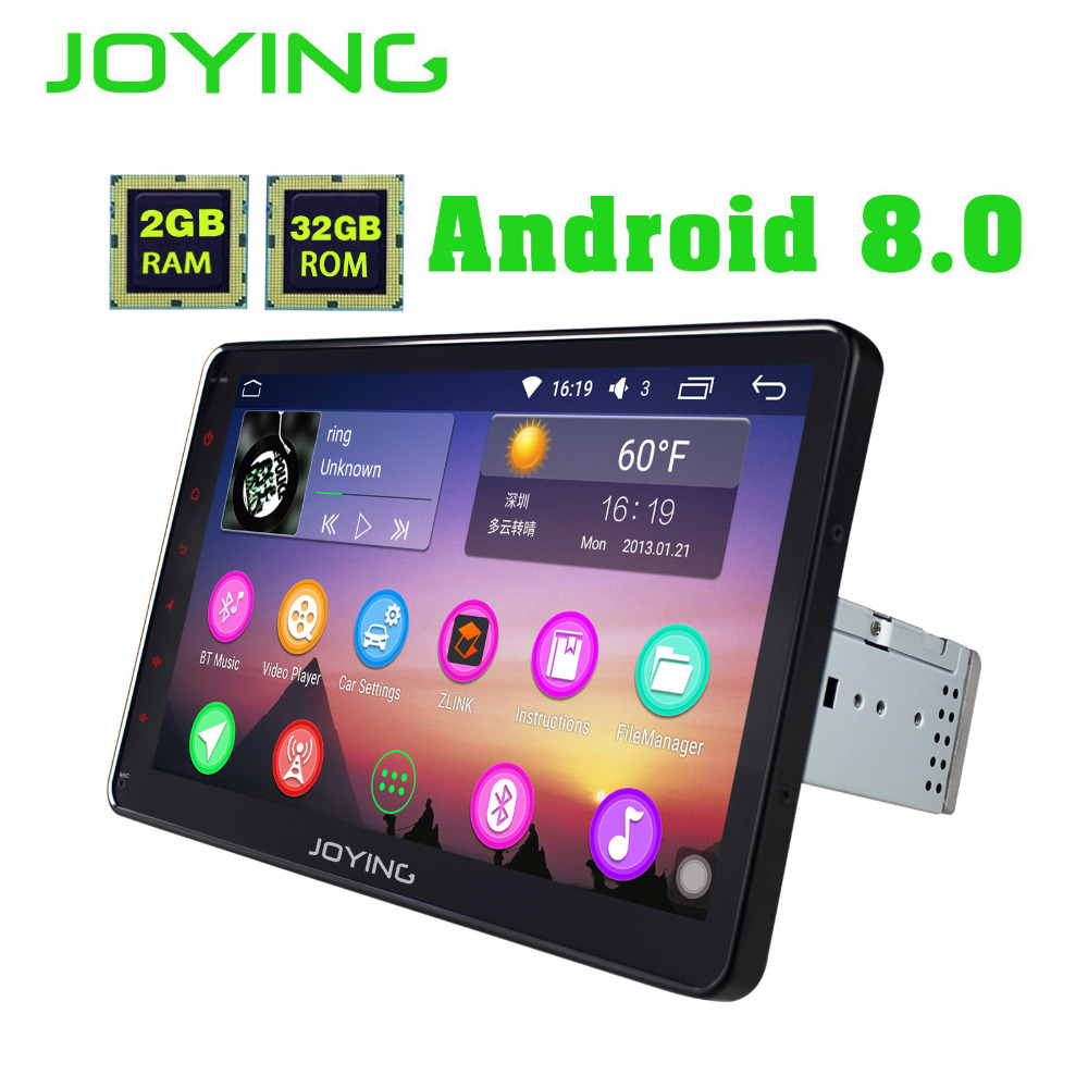 JOYING 10.1 ''Unique 1 Din Android 8.0 Universel De Voiture Radio Stéréo GPS Navigation 2 gb Ram Octa Core Autoradio cassette HD Carplay