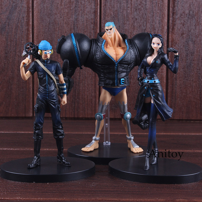 Anime One Piece Film Gold Robin Franky Usopp Figure PVC One Piece Figure Set Collectible Model Toys for Boys 3pcs/set 1