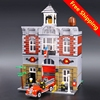 Lepin 15004 Model Doll House Building Kits 2313Pcs Blocks City Street Fire Brigade Educational Compatible With