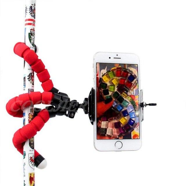 COOLJIER Flexible Sponge Octopus Mini Tripod With Bluetooth Remote Shutter For iPhone mini Camera Tripod Phone Holder clip stand