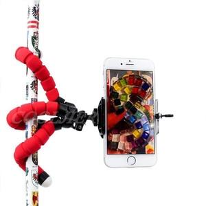 Image 4 - COOLJIER, Mini trípode de esponja Flexible con pulpo, con Bluetooth, obturador remoto para iPhone, mini cámara, trípode, soporte para teléfono, soporte de clip