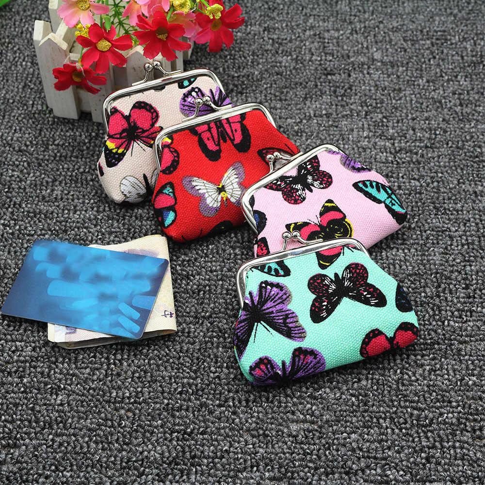 Aelicy luxo Mini Borboleta Flor Pequena Titular do Cartão Carteira de Luxo Caso Bolsa Da Moeda Da Embreagem Bolsa do Saco da bolsa Das Mulheres organizador