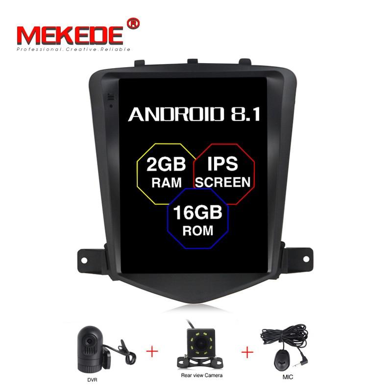 Lecteur Radio GPS de voiture MEKEDE Android 8.1 IPS pour Chevrolet Cruze 2008-2011 avec 4 cœurs 2 GB + 32 GB stéréo automatique multimédia Navi