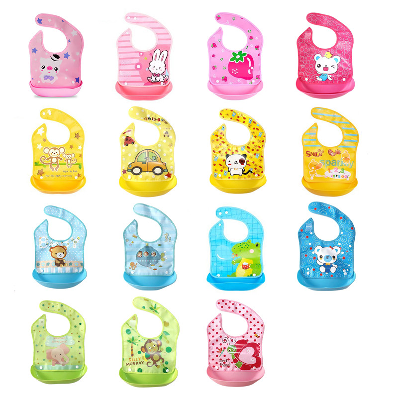 Baby Bibs Lovely Animals Cartoon Waterproof Newborn Bandana Bibs Meals Pocket Baby Stuff Saliva Towel Feeding Bibs