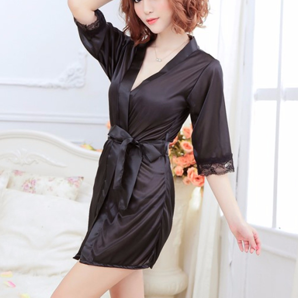THINKTHENDO Women's Sexy Lingerie Lace Dress Underwear Black Babydoll Sleepwear+G-string new
