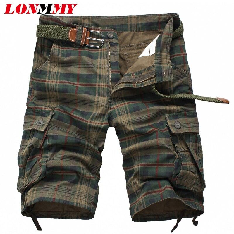 Shorts Men Sweatpants Bermuda Military Army Cotton Fashion Beach Summer Masculina Slim