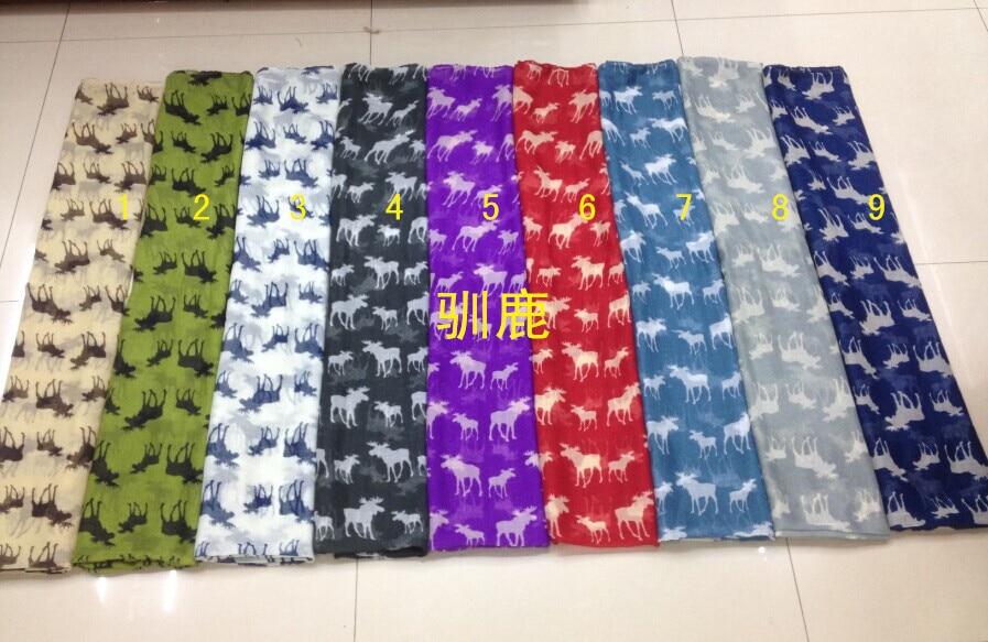 2015 Fashion Women Moose Print Scarf Christmas Scarf Reindeer Pattern Hijab Scarf  Women Shawl In Mix Color Free Shipping