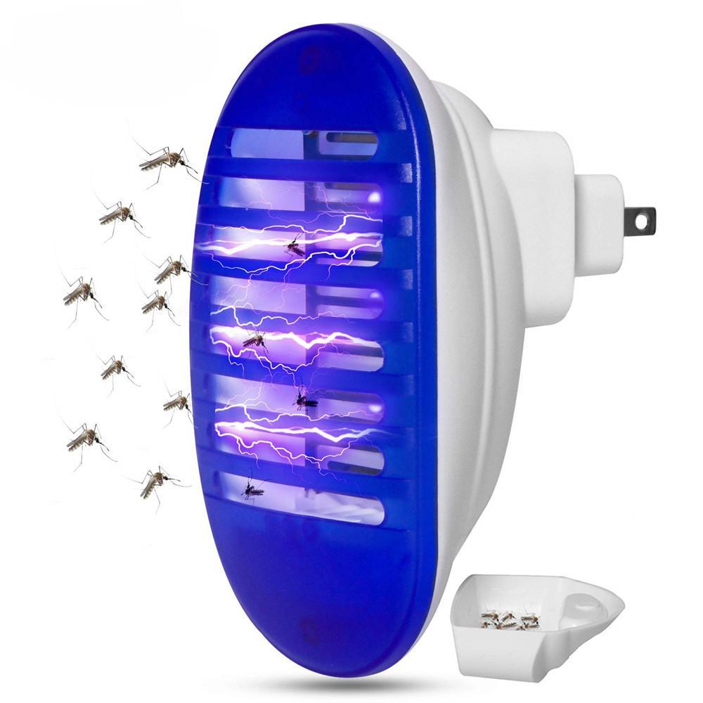 HobbyLane AC 110V~240V 1W LED Electric Shock Mosquito Killer Lamp Living Bedroom Night Bulb