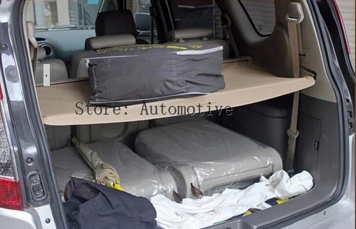 rear trunk security shield cargo cover for hyundai santa fe 7 seat 2006 2007 2008 2009 2010 2011. Black Bedroom Furniture Sets. Home Design Ideas