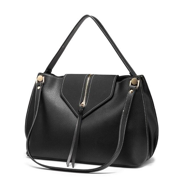 REALER женские сумки дизайнерские сумки на плечо высокого качества сумки Хобо женские из искусственной кожи чехол для мусора женская сумка-мессенджер