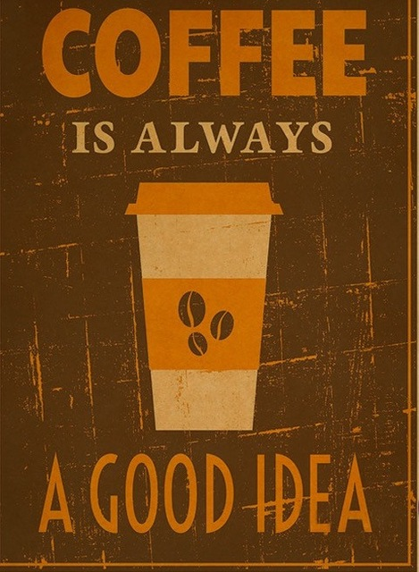 Coffee House Is Always A Good Idea Vintage Retro Decorative Frame Poster Diy Wall Canvas