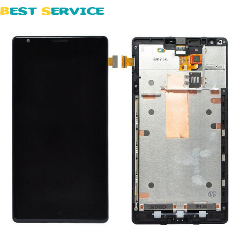 100% New For Nokia Lumia 1520 LCD Display with Touch Screen Digitizer LCD Assembly + Frame Black Color + Tools Free Shipping black lcd display touch screen digitizer assembly with bezel frame for nokia lumia 1520 replacements part free shipping