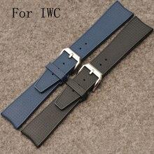 Para IW323101 banda de lujo correas de reloj, 22 MM correa de reloj de goma de la correa, correa de caucho impermeable con logo, entrega rápida
