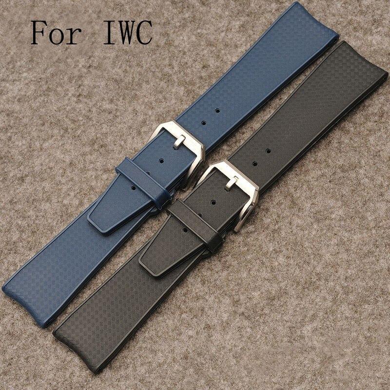 Pour IW323101 luxe Band bracelets, 22 MM caoutchouc bracelet ceinture, Caoutchouc imperméables bracelet avec logo, Livraison rapide