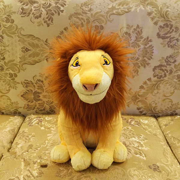 Original Cartoon The Lion King Mufasa Cute Stuff Plush Toy Doll Birthday Gift For Kids black orangutan 75x85cm chimpanzee plush toy black king kong doll gift w4663