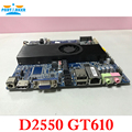 Mini itx atom d2550 de doble núcleo integrado placa base mini itx ultra-delgada 12 v fuente de alimentación