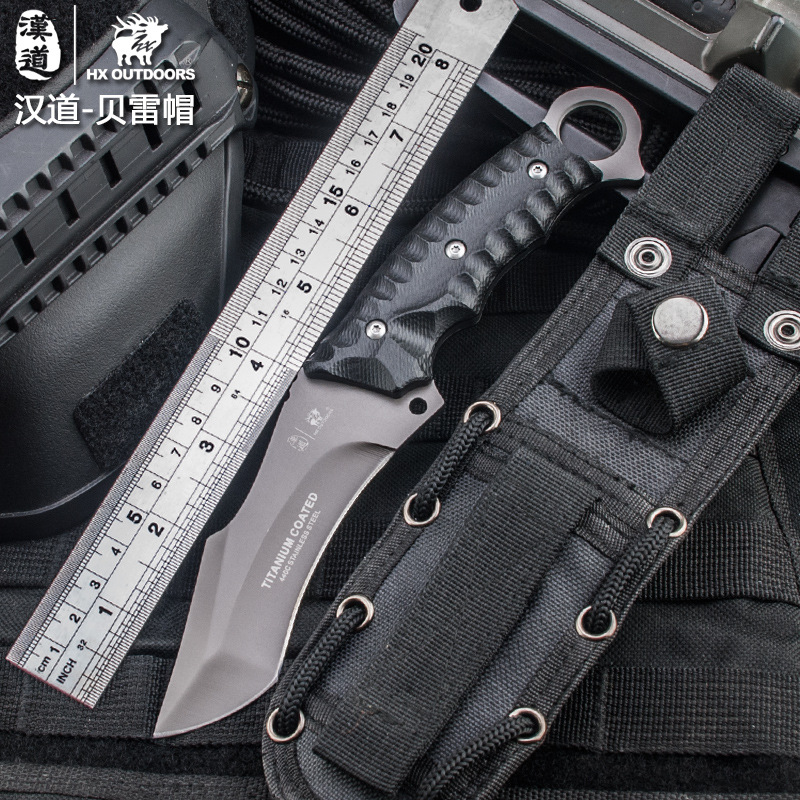 HX OUTDOORS 440C Blade K10 Handle Survival Tactical Fixed Knife Outdoor Camping Hunting Multi-function bushcraft knifves D-121 цены