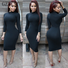 women dress party sexy solid streetwear white black shirt autumn winter dress woman befree sheath long sleeve wrap bodycon dress джемпер befree befree mp002xw120xl