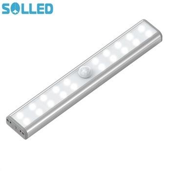 20 LED Kabine Gece Aydınlatma LED Gece Lambası USB Şarj Edilebilir Hareket Sensörü Dolap Kablosuz Hareket Aktif Lamba