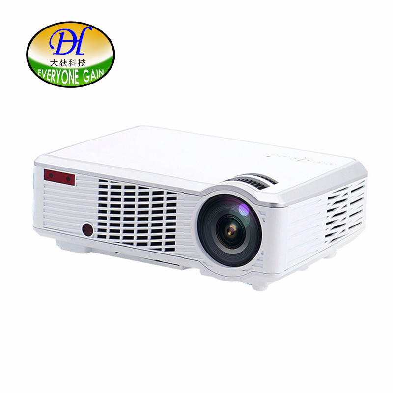 Everyone Gain LED Projector Support 1080P DVD External Android Phone Home Projector Wifi with TV VGA