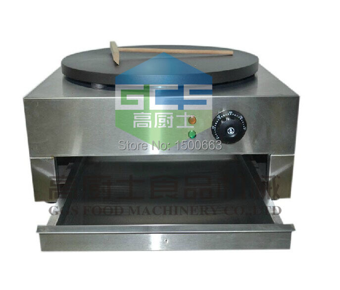 Stainless steel hot sale 220v-240v Electric crepe maker machine hot sale silver stainless steel