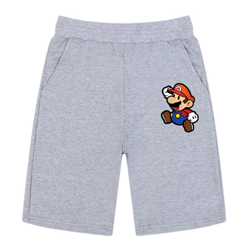 Summer Toddler Casual Baby Shorts Kids Boy Loose Short Pants Infant Super Mario Cotton Elastic Waist Short Trousers 2