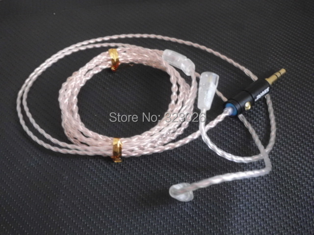 IE8 IE80 Upgrade Line,diy earphone wire,5N Single crystal copper wire,Hand-woven