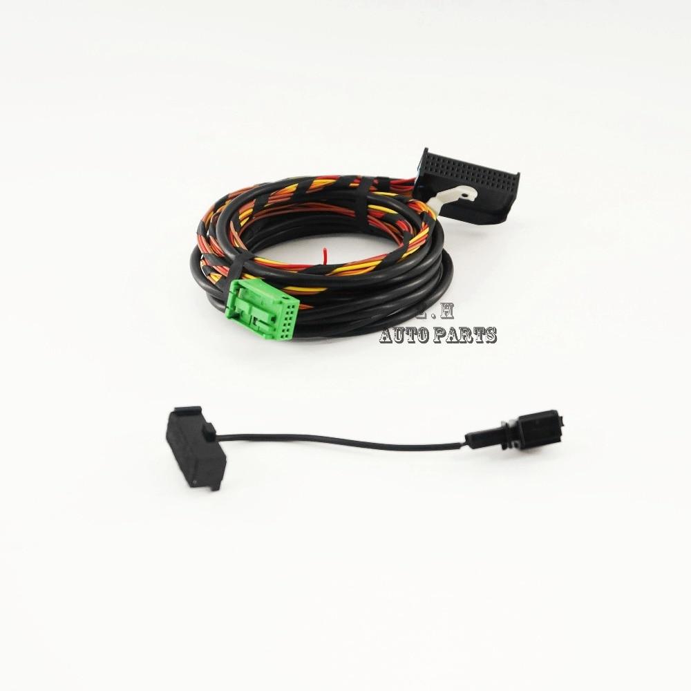 Bluetooth wiring harness cable 9w2 9w7 fit vw golf jetta passat rcd510 rns510 1k8 035 730