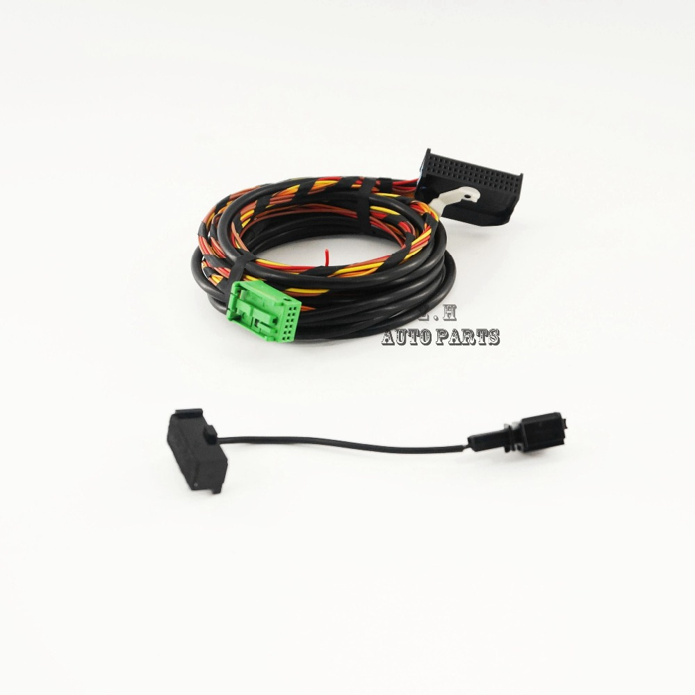 Vw Rns510 Bluetooth Radio Wiring Library Harness New Full Set 9w2 Module Cable For Rcd510