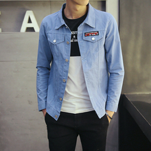 2016 new male outerwear slim long-sleeve spring square collar thin cotton jackets men's clothing Men casual short jacket M-5XL