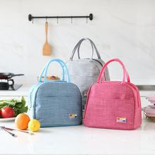лучшая цена Large Capacity Zipper Padded Waterproof Lunch Bag Solid Color Outdoor Insulation Reusable Portable Picnic Oxford Bag