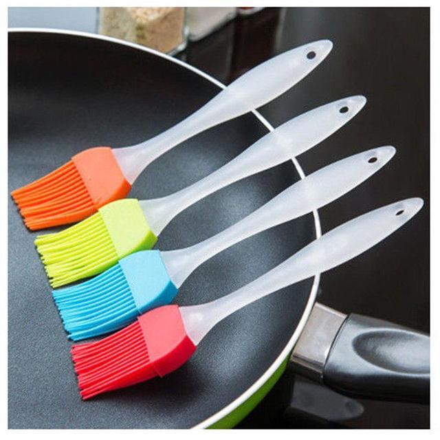 Силиконовые формы для выпечки жаропрочная форма для хлеба кисточки для приготовления пищи выпечка масляная кисточка для смазывания гриля случайный цвет